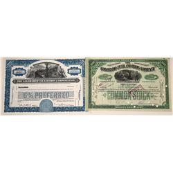 Colorado Fuel & Iron Company Stock Certificates (2)  [127496]