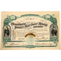 Consolidated Yankee Fork Gravel Mining Co. Stock Certificate  [113879]