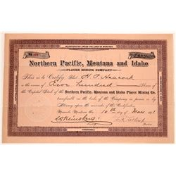 Northern Pacific, Montana & Idaho Placer Mining Co. Stock  [129646]