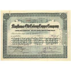 Michigan Copper Mining Stock Certificate  [129782]