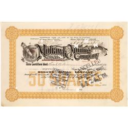 Mohawk Mining Co Stock, Rare Orange Variety, Early Date, 1904  [129491]