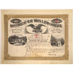 Rouchleau-Ray Iron Land Company Stock Certificate  [107955]