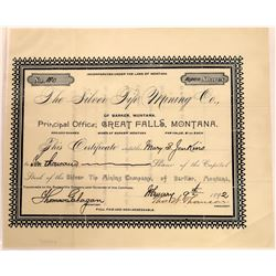 Silver Tip Mining Company Stock Certificate  [129582]