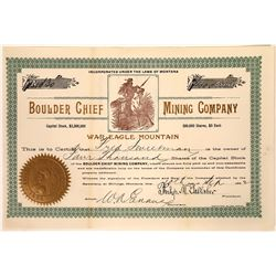 Boulder Chief Mining Company Stock Certificate  [127178]