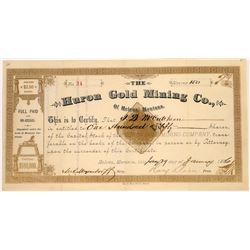 Huron Gold Mining Company Stock Certificate  [129599]