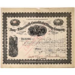 Amy & Silversmith Consolidated Mining Co. Stock Issued to Marcus Daly [123861]