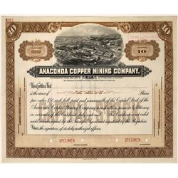 Anaconda Copper Mining Company, Butte, Montana - rare specimen  [123877]