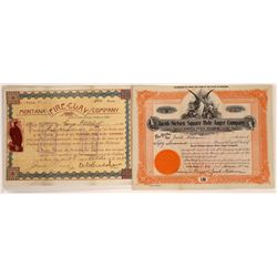 Butte Mining Products Stock Certificate Pair  [129633]