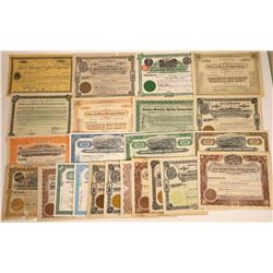 Butte, Montana Mining Stock Certificate Collection  [113887]