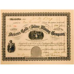 Stevens Gold & Silver Mining Company Stock Certificate  [129622]