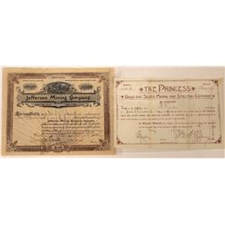 Two Different Butte Mining Stocks: The Princess and Jefferson MC  [113858]