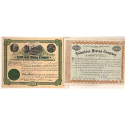 Two Different Butte, Montana Issued Mining Stocks  [129649]