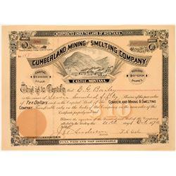 Cumberland Mining & Smelting Company Stock Certificate  [113868]