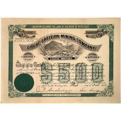 Great Eastern Mining Company Stock, Castle, Montana, 1897  [123885]