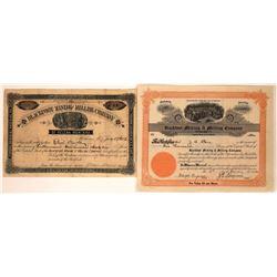 Blackfoot Mining & Milling Company Stock Pair  [127159]