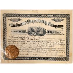 Carbonate King Mining Company Stock Certificate  [129583]