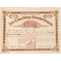 Deer Lodge Mining & Reduction Company Stock Certificate  [129618]