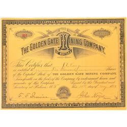 Golden Gate Mining Company Stock Certificate  [129587]