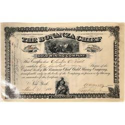 Bonanza Chief Gold Mining Company Stock Certificate  [127154]
