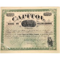 Capitol Mining & Milling Co. of Montana Stock Certificate  [129591]