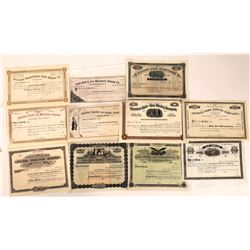 Helena Datelined Unissued Mining Stock Collection, pre-1900  [129572]