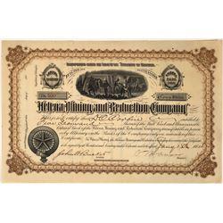 Helena Mining and Reduction Company Stock, 1884, Montana  [123873]