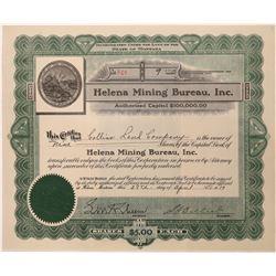 Helena Mining Bureau Stock, Montana  [123967]