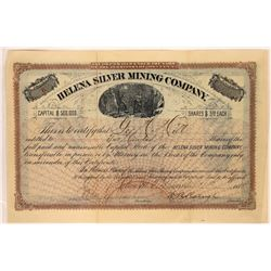Helena Silver Mining Company Stock Certificate  [129597]