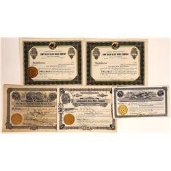 Helena, Montana Mining Stock Certificate Group  [113871]
