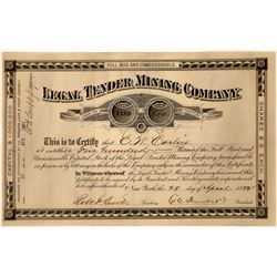Legal Tender Mining Company Stock Certificate  [113865]