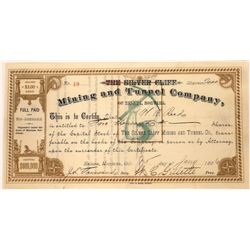 Silver Cliff Mining & Tunnel Company Stock Certificate  [129590]