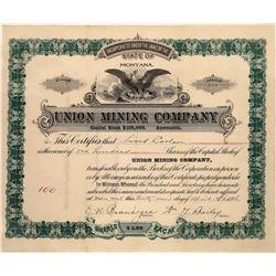Union Mining Company Stock Certificate  [127161]