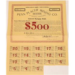 Penn Placer Mining Co. of Helena, Montana General Mortgage Bond  [130000]