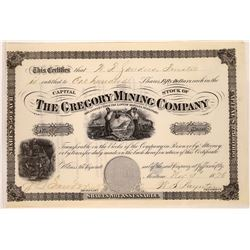 Gregory Mining Company Stock Certificate  [129588]