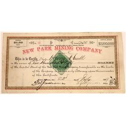 New Park Mining Company Stock Certificate  [129577]