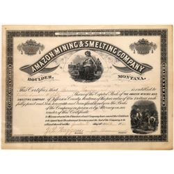 Amazon Mining & Smelting Company Stock Certificate  [129623]