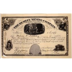 """Rumley Mining Company Stock Certificate--""""The Comstock of Montana""""  [129570]"""