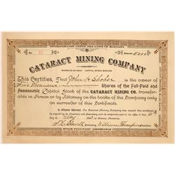 Cataract Mining Company Stock Certificate  [127164]