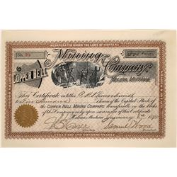 Copper Bell Mining Company Stock Certificate  [127160]