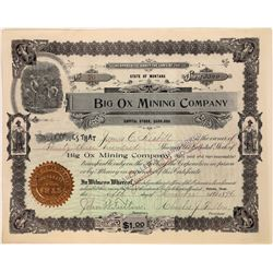 Big Ox Mining Company Stock Certificate  [127157]