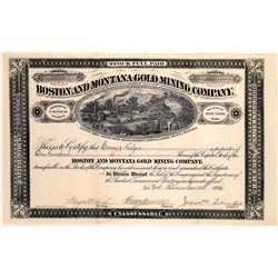 Boston & Montana Gold Mining Company Stock Certificate  [127179]