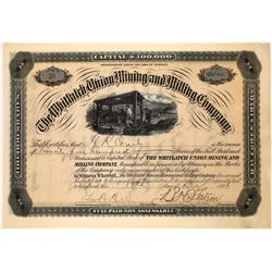 Whitlatch Union Mining & Milling Co. Stock Certificate  [113864]
