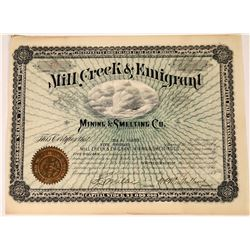 Mill Creek & Emigrant Mining & Smelting Company Stock  [123876]