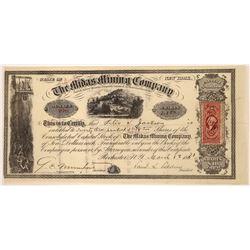 Montana Midas Mining Company Stock Certificate  [129600]