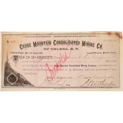 Cruse Mountain Consolidated Mining Co. Stock Certificate  [129619]