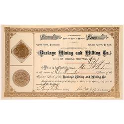 Buckeye Mining & Milling Company Stock Certificate  [129598]