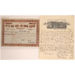 Bitter Root Canal & Mining Co. Stock and Illustrated Butte Lettersheet  [129616]