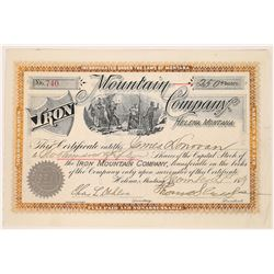 Iron Mountain Company Stock Certificate  [129603]