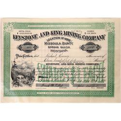 Keystone & King Mining Company Stock Certificate  [127169]