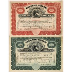 Cascade Silver Mines and Mills Stocks of Neihart, Little Belt Mountains, Montana: Green and Red  [12